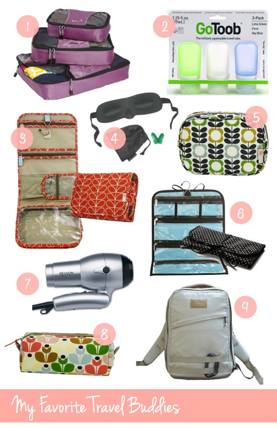 Accessories that make your traveling experience more enjoyable. My three favorite tips: (1) Pack items that can be used for more than one look or purpose (2) Use packing lists so that you do not forget the items you truly need (3) Just as at home, you'll likely wear a select few items of clothing over and over, so try not to overpack. P.S. Relax and Enjoy!