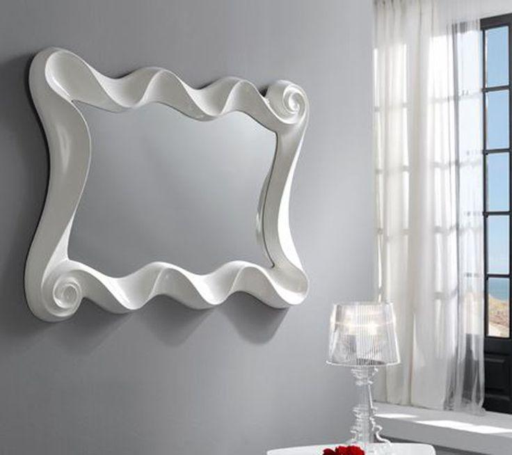 Espejo moderno curves espejo moderno espejos de cristal espejos de diseño espejos baratos espejos de resina