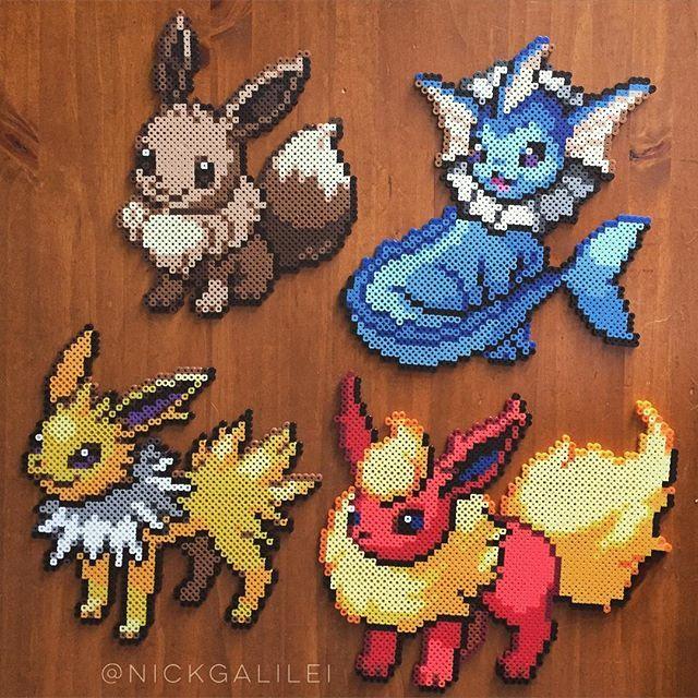 Pokemon set  perler beads by Nick Galilei