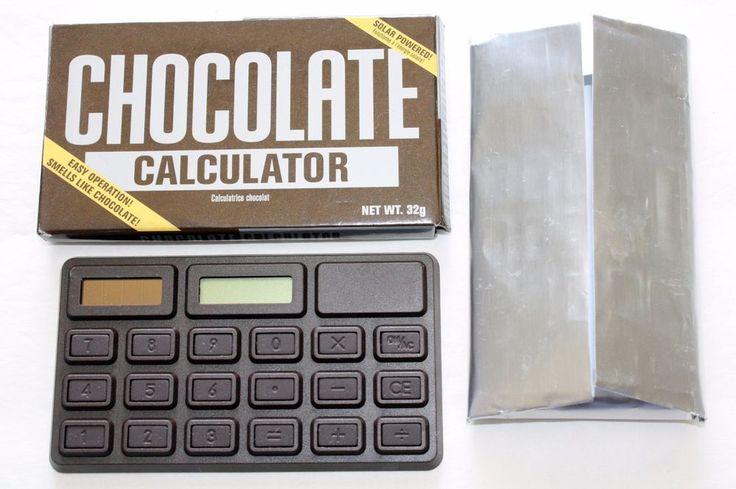 Chocolate Bar Shaped Calculator in Wrapper Solar