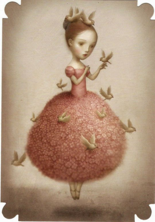 Something about this piece of Nicoletta Ceccoli's artwork reminds me of an Ana Salvador doll