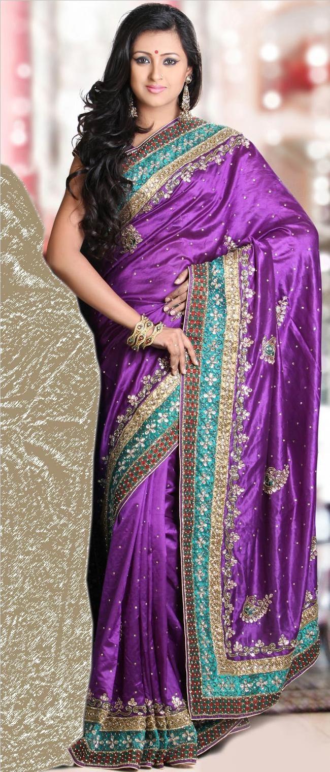 Purple Pure Dupion #Silk #Saree with Blouse @ $258.62 | Shop Now @ http://www.utsavfashion.com/store/sarees-large.aspx?icode=ssk4945c
