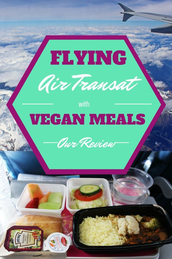 Our full review of our flight with Air Transat. Can you get vegan meals on Air Transat? Find out what we ate!