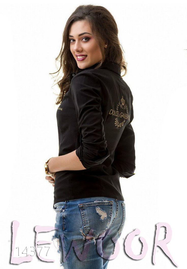 Стильная рубашка с надписью накатом - купить оптом и в розницу, интернет-магазин женской одежды lewoor.com