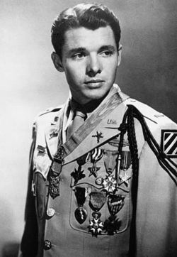 Audie Leon Murphy (1925 – 1971) was one of the most famous and decorated American combat soldiers of World War II. He was awarded every U.S. military combat award for valor available from the U.S. Army, and was also decorated by France and Belgium. He served in the Mediterranean and European Theater of Operations. He was presented the Medal of Honor for his defensive actions against German troops on January 26, 1945, at the Colmar Pocket near Holtzwihr, France. During an hour-long siege...