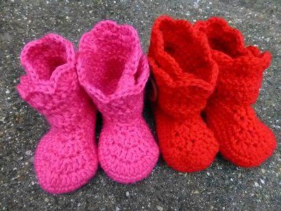 LINDEVROUWSWEB: Gehaakte Baby Boots met patroon