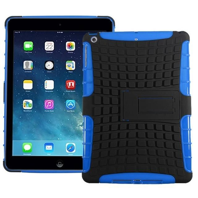 Rugged TPU Rubberized Hard Case Cover Stand Protector For iPad Air 1 High Quality For iPad 5 Cover Case New Tablet 9.7inch Case