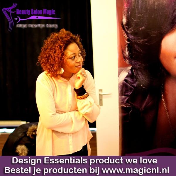 Wil je meer informatie over Design Essentials? Neem dan contact op met: Beauty Salon Magic V.O.F., Rijnstraat 218, 1079 HT Amsterdam. Tel: 020-642 43 00    Ik ben wel heel nieuwsgrierig naar ervaringen! Dus heb jij ervaringen met keratine of de strengthening therapy op basis van aminozuren? Laat van je horen!