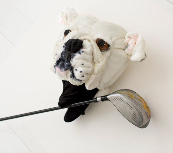 Golf club head cover ,Custom DOG portrait , golf accessories ,golfer gift
