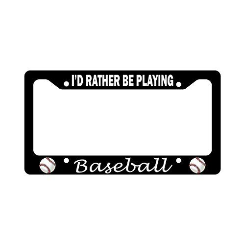I'd Rather Be Playing Baseball Funny Car License Plate Frame #Rather #Playing #Baseball #Funny #License #Plate #Frame