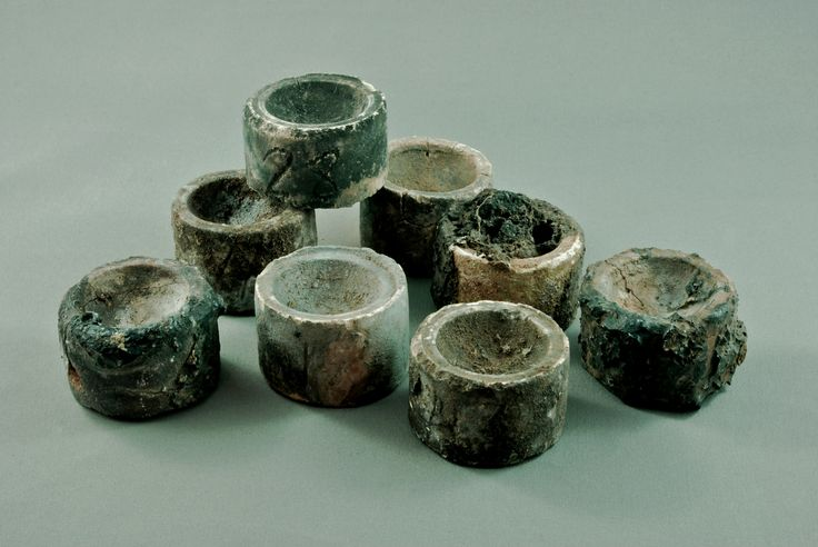 Cupels for gold assaying c.1900 from the Beaconsfield Mine at the Beaconsfield Mine and Heritage Centre www.beaconsfieldheritage.com.au