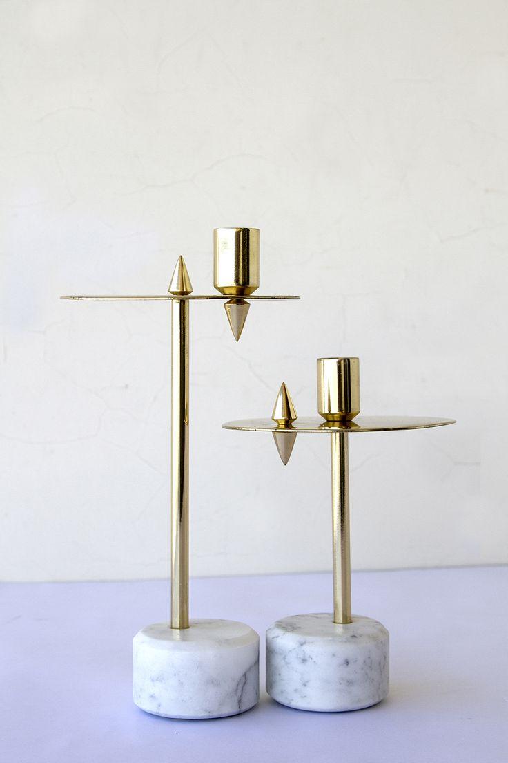 Granite And Marble Candle Holders www.bocadolobo.com/blog #interiordesign #contemporarydesign #luxuryfurniture