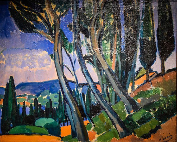 Andre Derain - Landscape, 1911 at Princeton Art Museum Princeton NJ