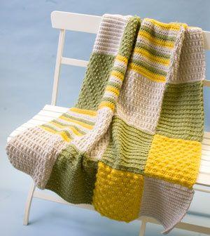 Free Crochet Pattern L0555 Crochet Sampler Afghan Lion