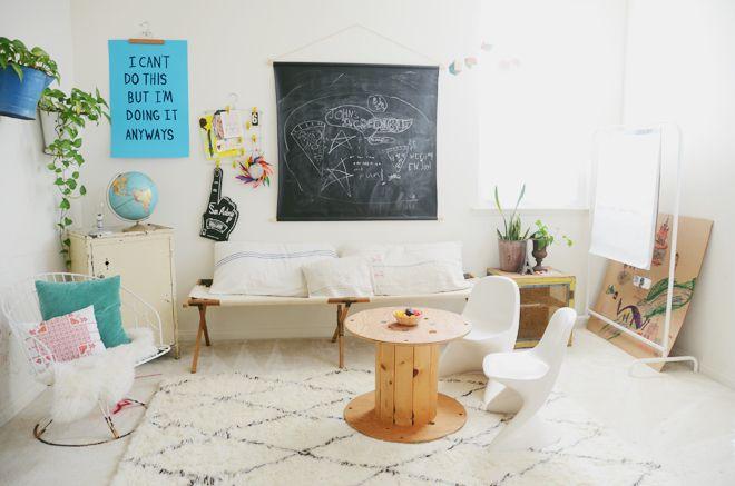Interior crisp: Personal interior - The home of Cakies blogger Rubyellen Bratcher.