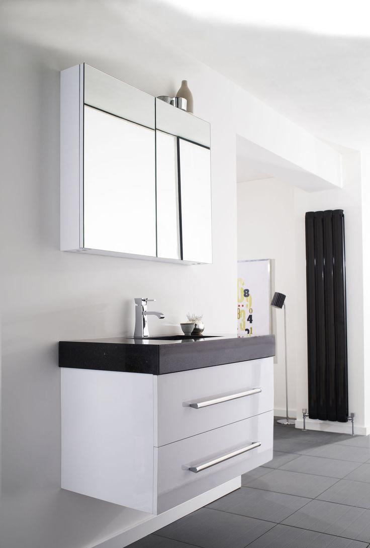 250mm Wide Tall Bathroom Cabinet Manila Gloss White 250mm Wide X 300mm Deep Cupboard Unit