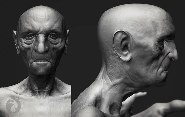 """Hag"", proof render. If I had ten lives, one of them would definitely be dedicated to sculpting the human form in all its variations, in the manner of Scott Eaton. In the manner of Scott Eaton, mind. Because there is only one Scott Eaton. Scott Eaton. Scott Eaton."