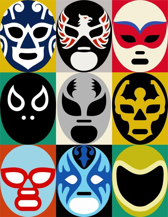 Mexican Lucha Libre masks! http://gotomexico.co.uk/mexican-folklore/