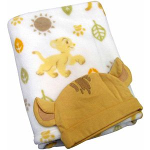 Disney Baby Bedding Lion King Blanket with Beanie - Walmart.com Isn't it cute!!!
