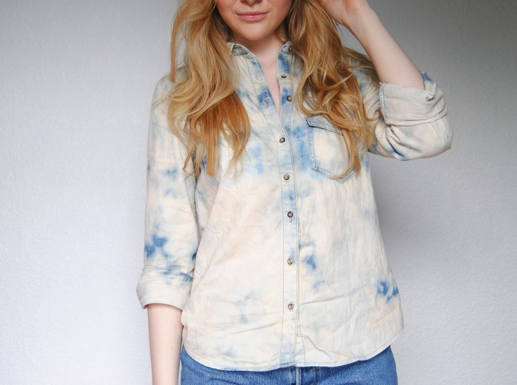 This Fashion Is Mine...: DIY Acid Wash Denim Shirt