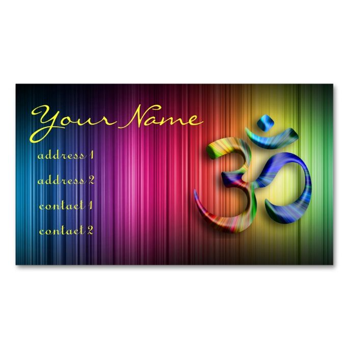 2156 best yoga business cards images on pinterest business cards om aum yoga colorful double sided standard business cards pack of make your own business card with this great design wajeb Images
