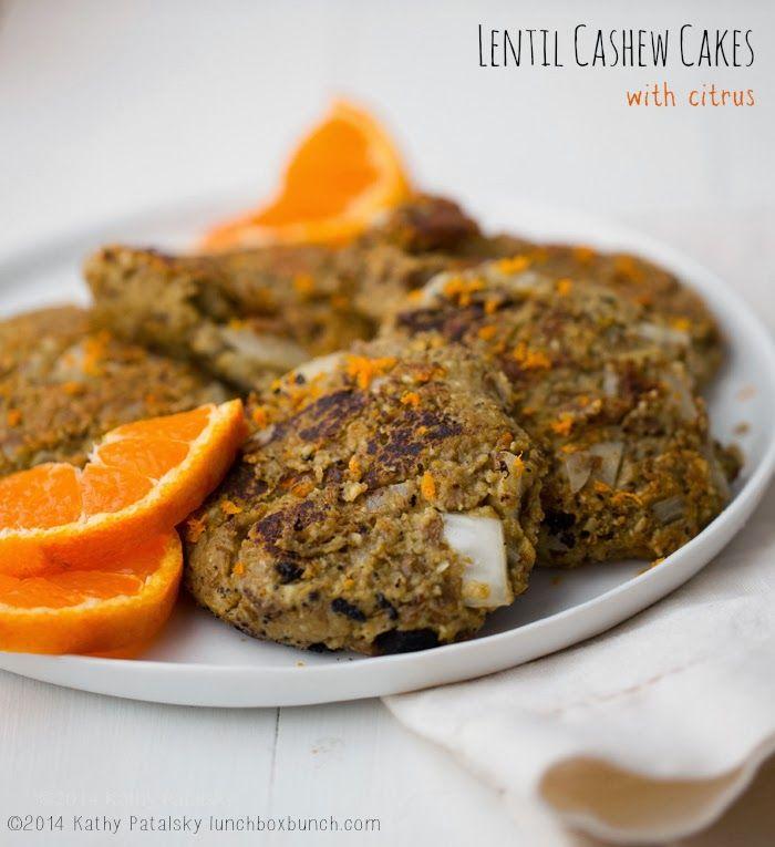 Lentil Cashew Cakes #vegan #recipe #lentils