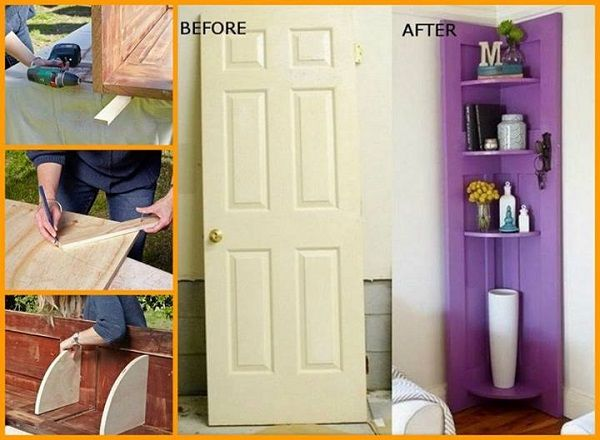 DIY Shelves Using An Old Door
