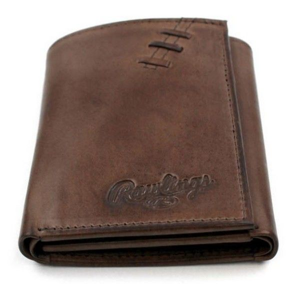Rawlings Baseball Tri-Fold Wallet Credit Card Legacy Stitch Leather RW106-200