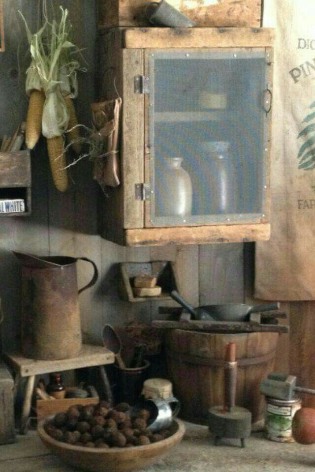 Rustikale Küchen, Drinnen, Rund Ums Haus, Wohnen, Deko, Urtümliches Dekor,  Urtümliches Dekor, Schlichte Küchen, Primitive Volkskunst