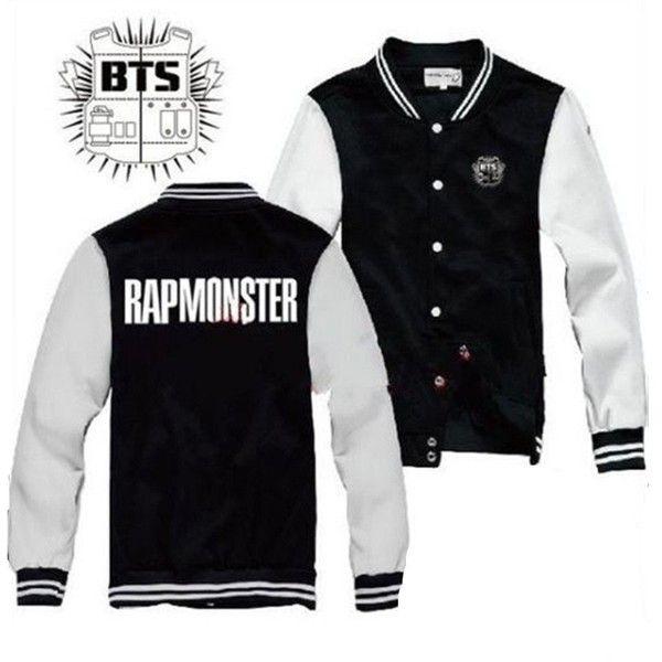 KPOP Bangtan Boys Jacket BTS unisex goods New Rap Monster Coat ($13) ❤ liked on Polyvore featuring jackets