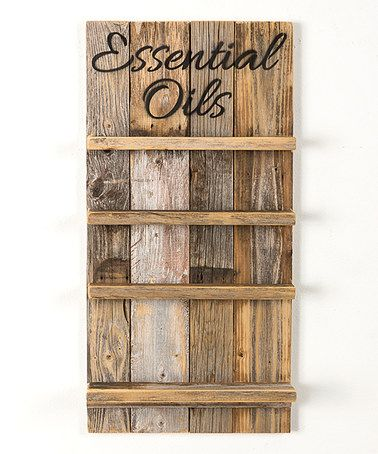 Look at this #zulilyfind! Natural 'Essential Oils' Rack \ #zulilyfinds \ This would also work if I trimed shelves with wood trim