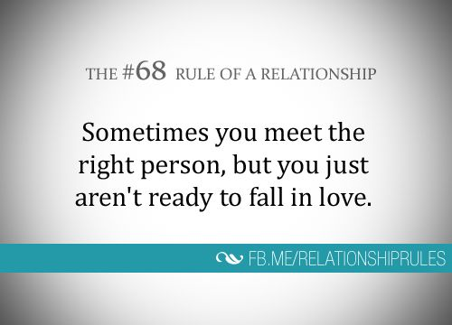 The #68 Rule of a Relationship