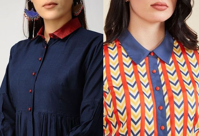41 Latest Neck Designs For Kurtis With Collar Kurti Neck Designs Neck Designs For Suits Neck Designs