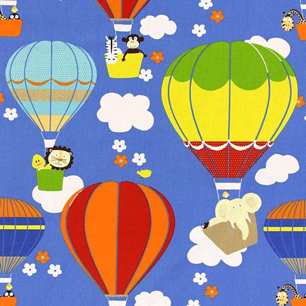 zwierzaki w balonach? wyobraźnia dzieci nie ma granic, więc ten materiał spełnia kryteria, może na zasłony? www.miniroom.pl