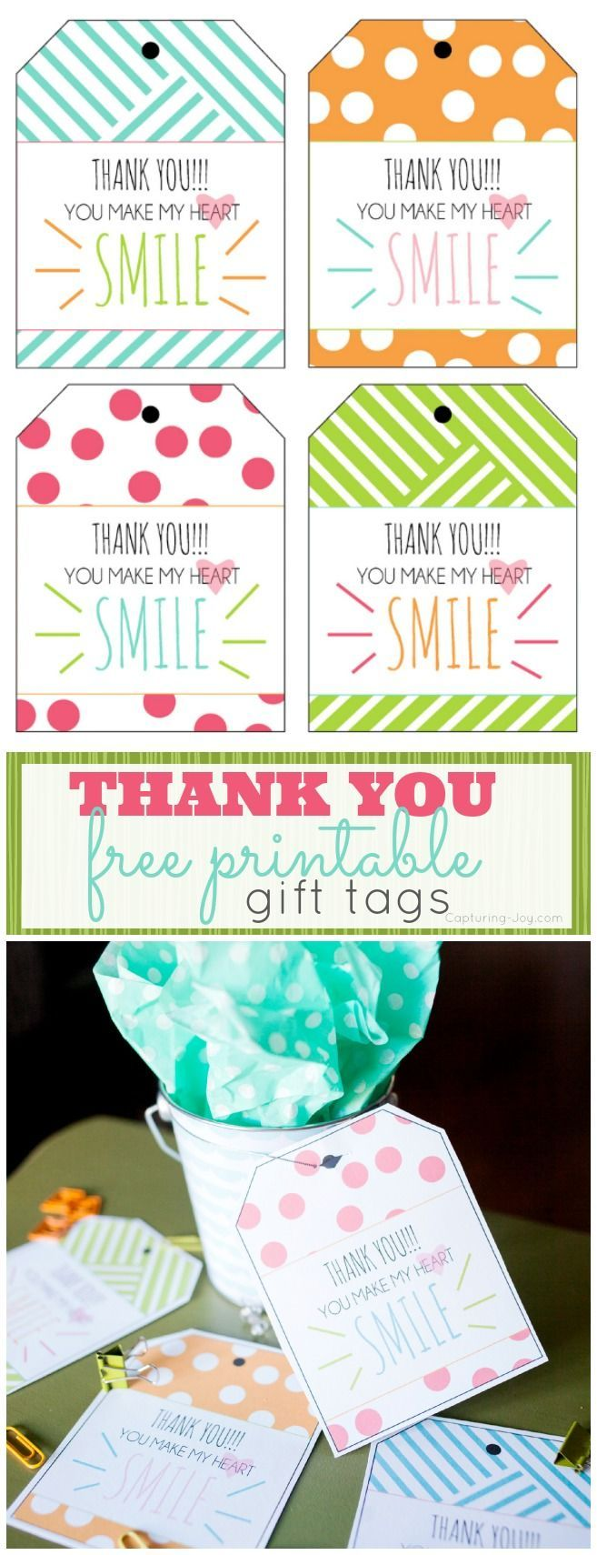 Say thank you with these Free Printable Gift Tags!
