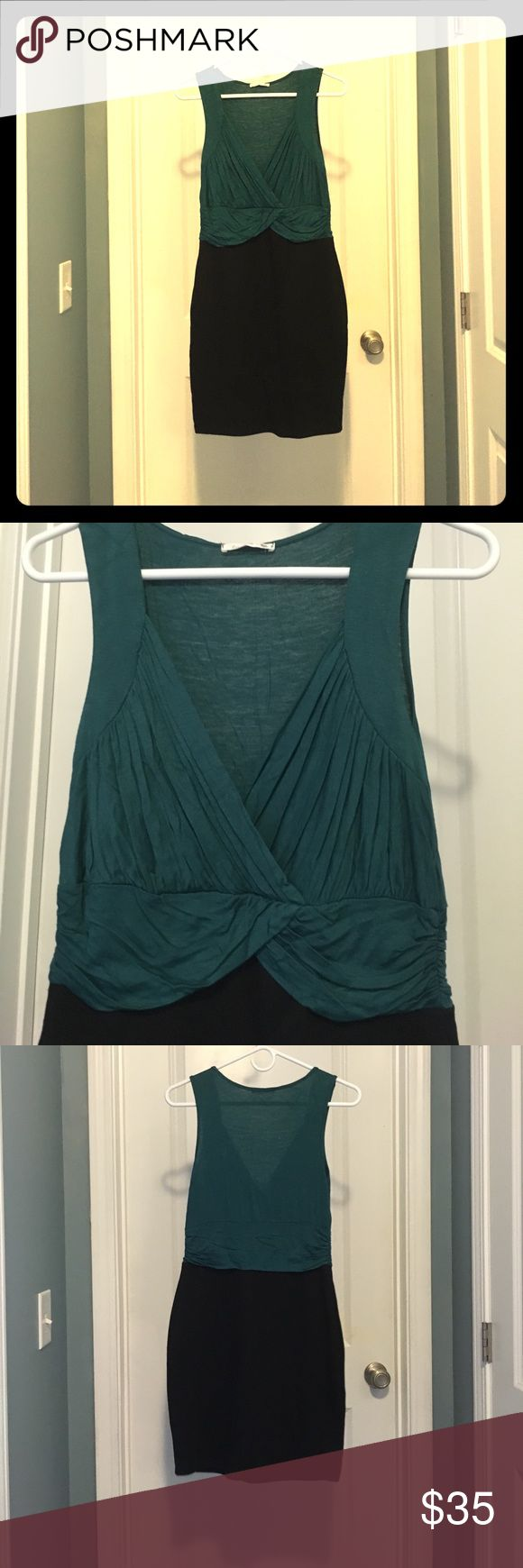 Never-worn Soprano green/black dress Green and black stretchy dress from Nordstrom Off the Rack. Never worn! Soprano Dresses