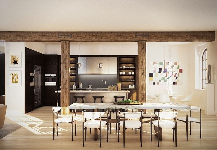 Gorgeous: The pad houses a rustic kitchen (above) as well as its own 71-foot indoor swimmi...