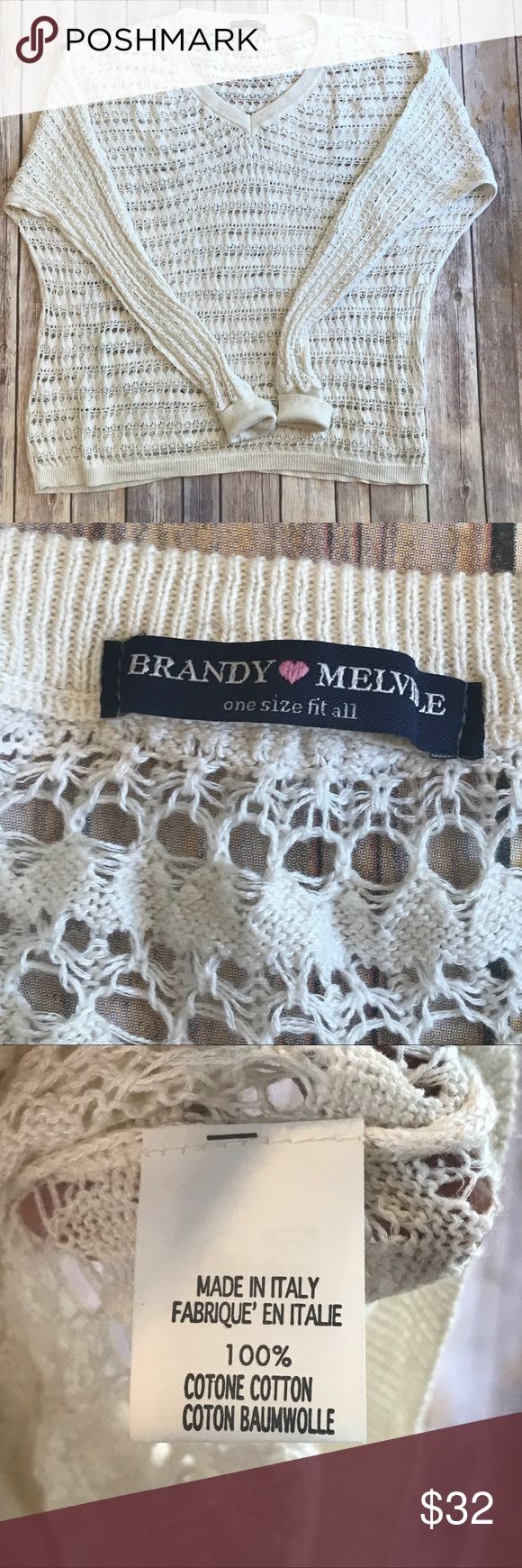 Brandy Melville sweater - OS GUC | made in Italy | v neck | OS | 💯 cotton Brandy Melville Sweaters V-Necks