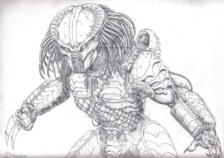 Alien vs Predator Coloring Pages Alien Predator Coloring