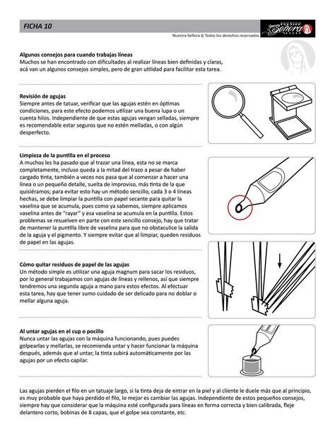 Ficha 10 / Consejos para líneas 01 - Caos Tattoo | Estudio de tatuajes profesional | Tatuadores en Santiago