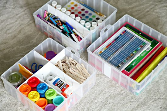 IHeart Organizing: Our Secret Craft Storage - for the kids' craft stuff