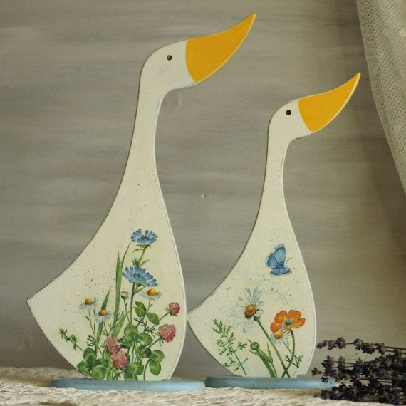 A couple of charming geese settle in your home. The feeling of warmth and comfort, touch of time and the unique romance of Provence. Geese - the messengers of the good news... #etsy