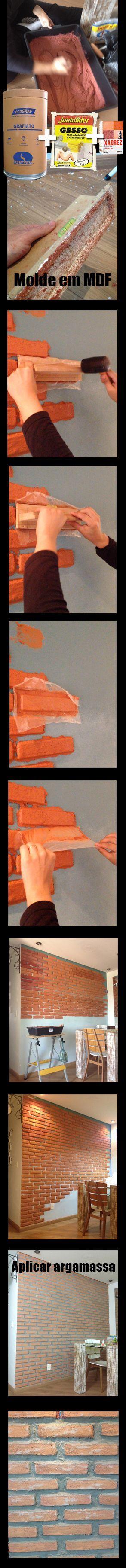 Muro de tijolo a vista fotos e modelos casa constru 237 da - Como Fazer Parede De Tijolinho