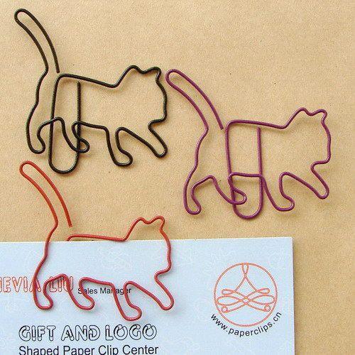cat paper clips... I want them!!