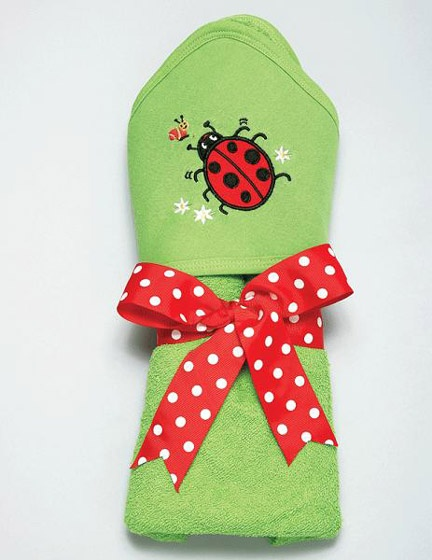 Personalized Ladybug hooded towel...can be coordinated with the ladybug bib and washcloth set!