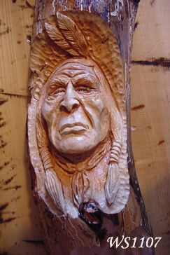 Native American Indian Hand Carved