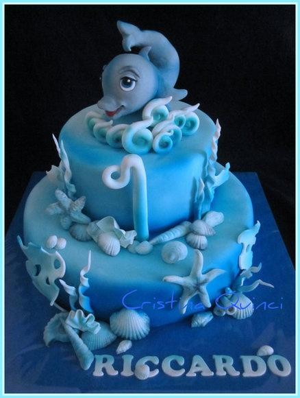 Torta delfino  Cake by Cristina Quinci