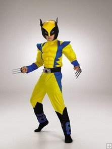 Wolverine Muscle Chest From XMEN Child Halloween Costume