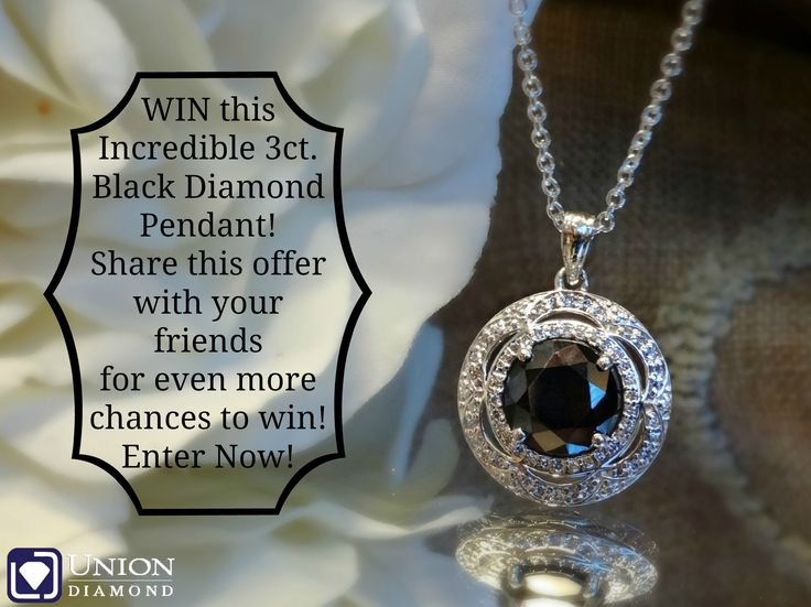 Enter to #WIN this 3ct. Black #Diamond Set in a Vintage Flower Inspired Pendant! Perfect to go with that #LittleBlackDress!