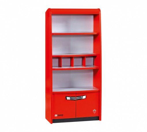 Biconcept Könyvesszekrény #gyerekbútor #bútor #desing #ifjúságibútor #cilekmagyarország #dekoráció #lakberendezés #termék #autóságy #forma1 #ágy #gyerekágy #szekrény